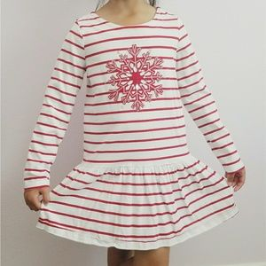 NWOT Gymboree Christmas Snow Flake Dress Size 8